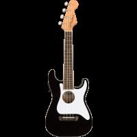 Fullerton Stratocaster Ukulele Black