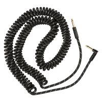 "Deluxe Coil Cable 30"" Black Tweed"