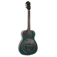 Metal Body Resonator Style-0 Distressed Green