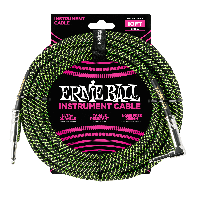 EB-6077 Instrument Cable Black/Green 10FT