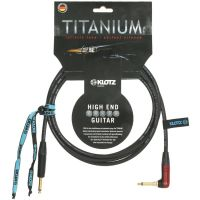 Titanium Guitar Cable Silent Plug Angle 6m